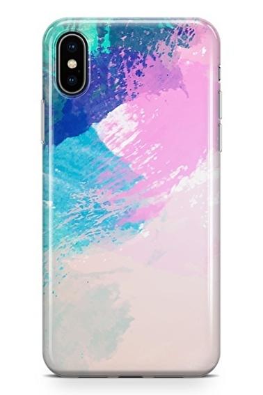 Lopard iPhone Xs Max Kılıf Silikon Arka Kapak Koruyucu Fırçaların Dansı Desenli Full HD Baskılı Renkli